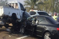 Six injured in 25 car pile-up on Al Ain-Abu Dhabi Road