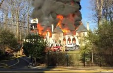 Video: US mansion owned by UAE embassy gutted by fire