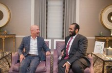 Saudi crown prince meets billionaires Bezos and Gates