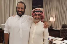 Prince Alwaleed in first public meeting with Saudi Crown Prince since detention