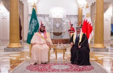 Saudi Crown Prince, Bahrain's King open new oil pipeline