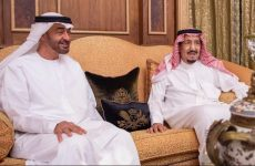 Abu Dhabi Crown Prince meets with Saudi King Salman in Riyadh