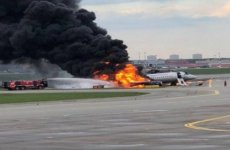 Video: Atleast 41 killed as Russian plane catches fire during emergency landing