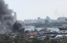 Cargo boat sinks after Dubai Creek fire