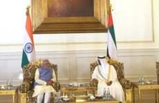 India's Modi visits UAE labour camp, Grand Mosque