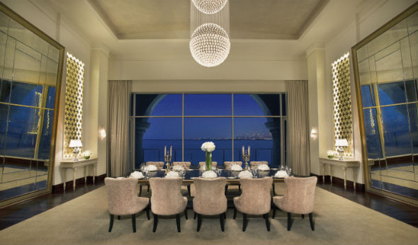 Waldorf Astoria Dubai May 2014  Royal Suite Dinning Room