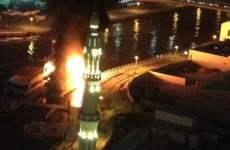 Fire Destroys Dubai Marina Restaurant Boat