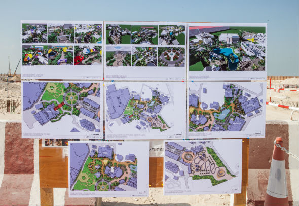 A map highlighting the various aspects of the Dreamworks segment within Motiongate, the Hollywood-styled theme park.  WIth a capacity to host over 1,000 people, the completely indoor area will see the likes of the Smurfs, Shrek and Kungfu Panda.