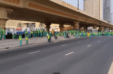 Video: Workers Stage Strike In Downtown Dubai Over Wage Issues