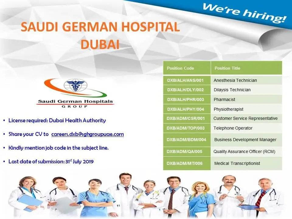 Healthcare Vacancies 9x Dubai UAE | Gulf Career Hunt
