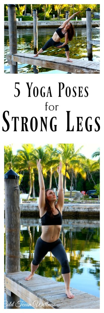 Yoga for leg strength - 5 Poses that will build strong, sexy, toned legs. Use this yoga sequence to get strong legs, fast! This yoga tutorial and inspiration will walk you through how to do each yoga pose. #yogastrong #yogastronglegs #yogaasana #yogapractice