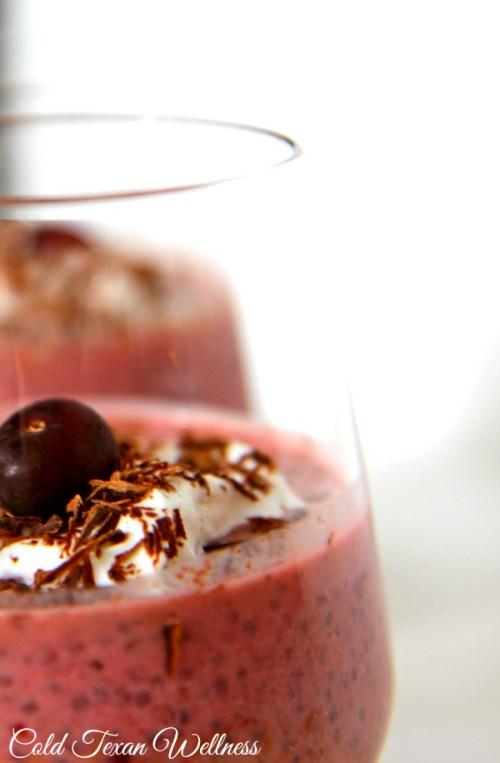 Cherry and Dark Chocolate Chia Pudding