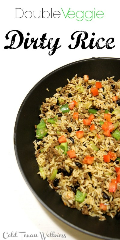 Double Veggie Dirty Rice - hearty, healthy, delicious and so so satisfying!