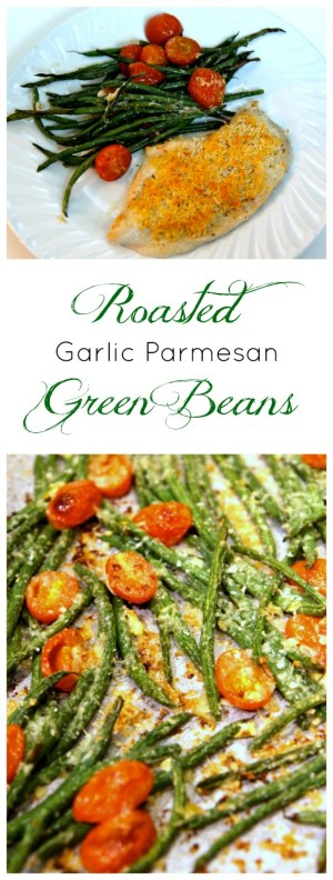 Roasted Parmesan Green Beans. A delicious, fast, simple side dish that goes with everything.