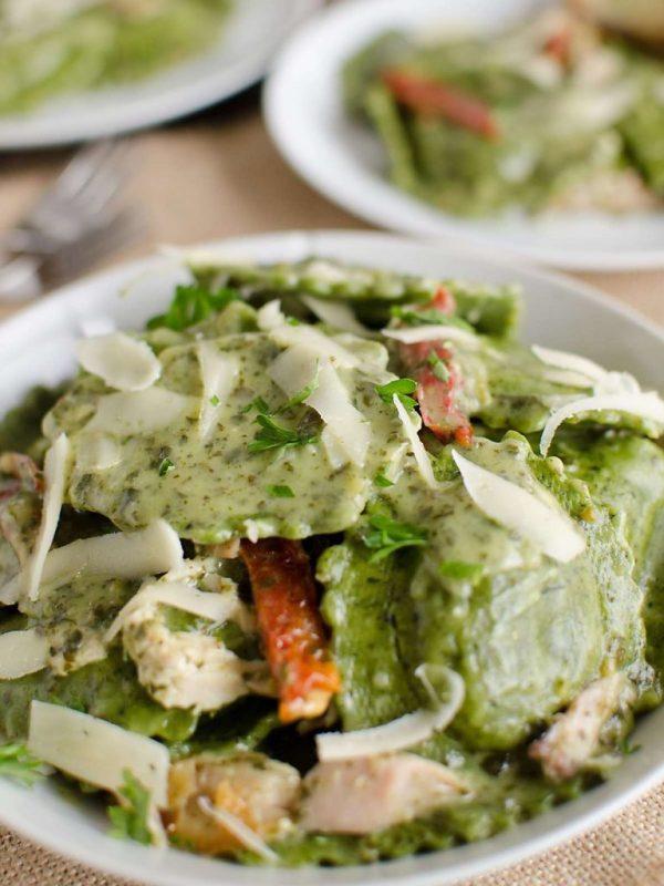 Homemade Romantic Dinners - 15 minute Asparagus Ravioli