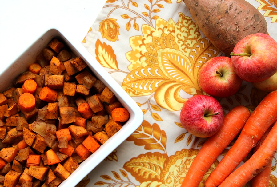 Delicious and healthy sweet potato and apple casserole. 21 day fix recipe, paleo recipe, gluten free, healthy, and kid approved!