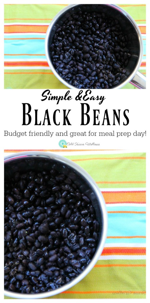 Easy Black Beans, the perfect easy way to add tons of important nutrients into your diet. A budget friendly ingredient that works great with freezer meals and meal planning #5ingredientsorless #veganrecipe #21dayfixapproved #veganandglutenfree #blackbeans #vegetarianside