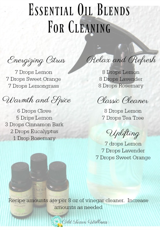Essential Oil Blends for cleaning. Diffuse into the air or add to this recipe of all natural non toxic multi purpose cleaner!