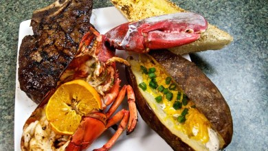 Tangerine Lobster and Steak