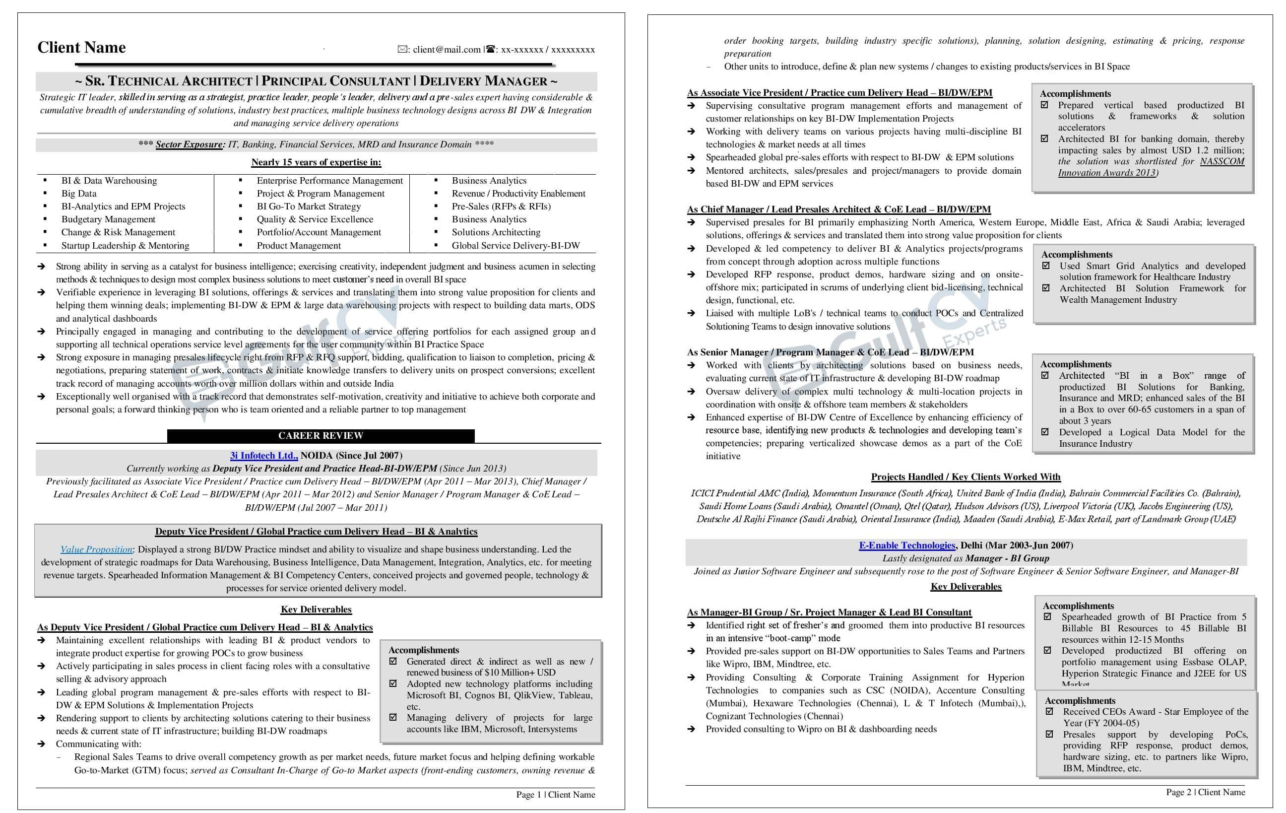 Senior Management Resume Templates International And Gulf Resume Cv Samples And Formats Gulf