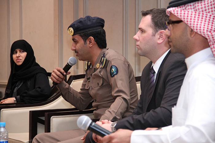 Major Mohamed Al Otaibi, General Directorate Civil Defense participates in the panel discussion