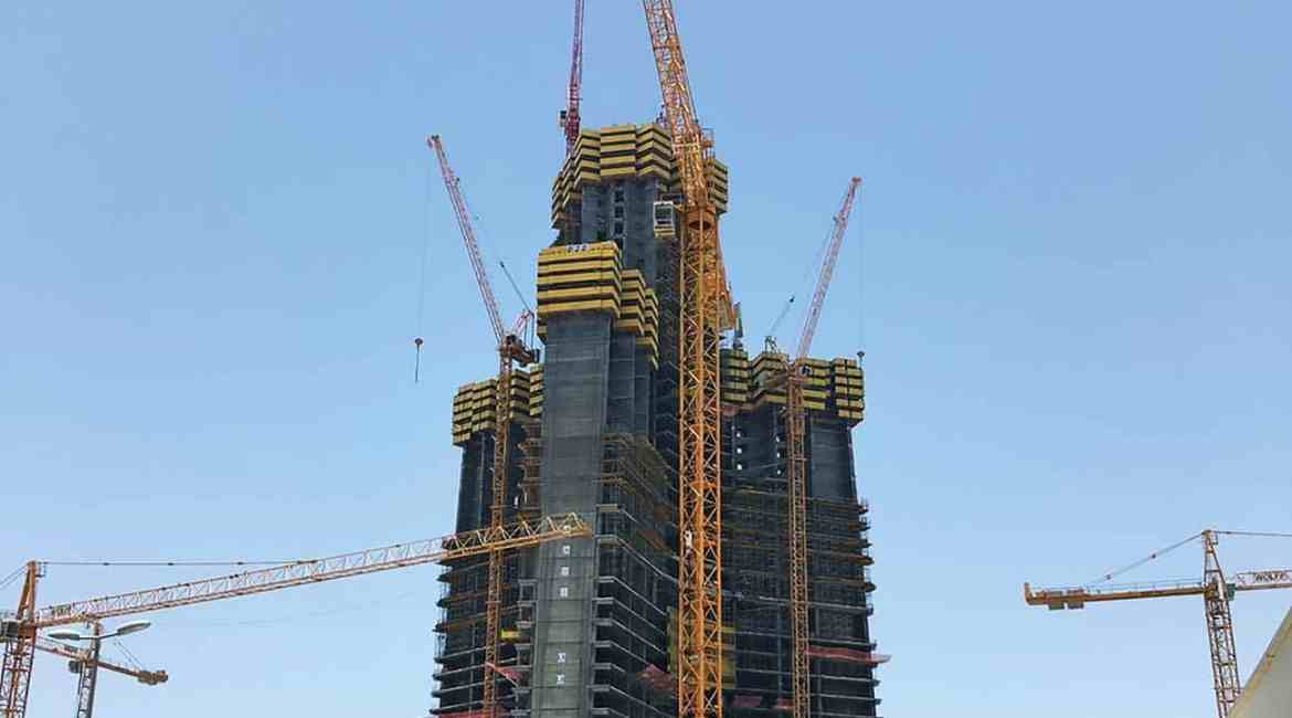 The highest standards of fire safety are essential in such buildings as Saudi Arabia's Kingdom Tower which will top out at more than 1000m.