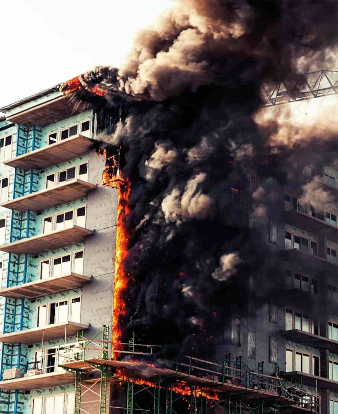 Another instance of a construction site major fire in a tower block.