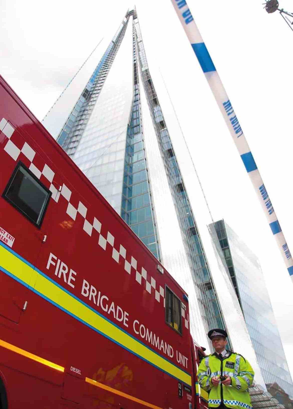 A major training exercise held at The Shard (95 floors and 309 metres high) before it opened to the public in February 2013.