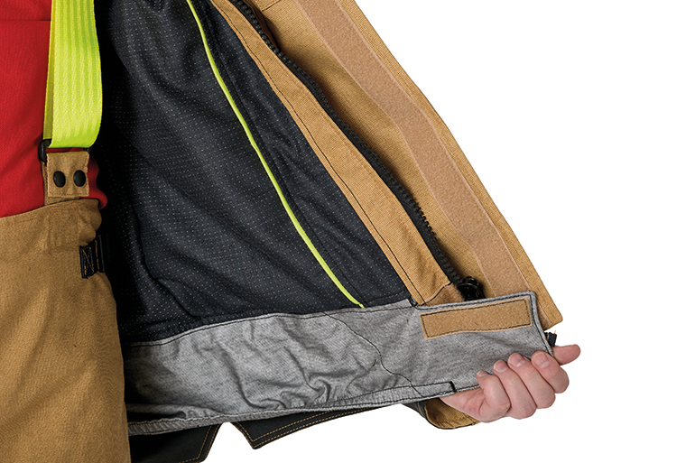 Optional particulate protection skirt.