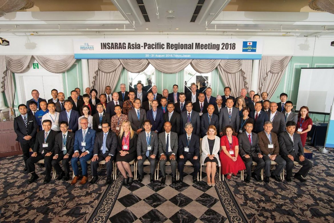 Group photo for INSARAG Asia-Pacific Meeting in 2018.