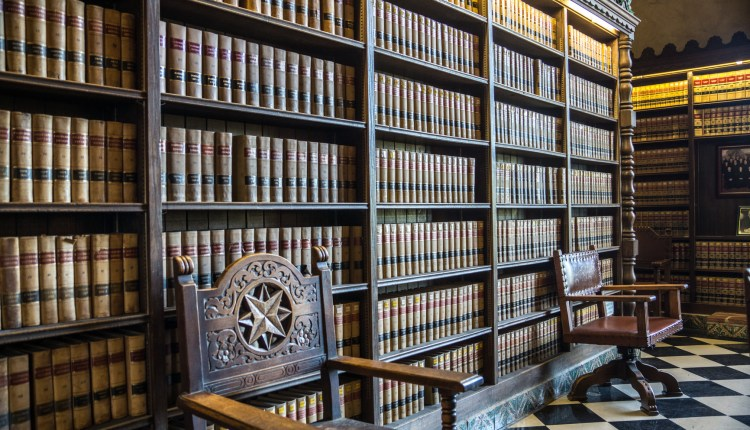 Bookshelves at a Law Library