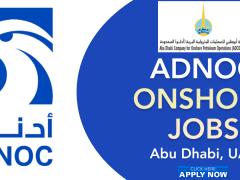 ADNOC Onshore Job Careers 2021   Government Jobs Dubai