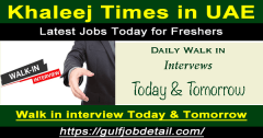 Buzzon Khaleej Times Latest Jobs Today for Freshers