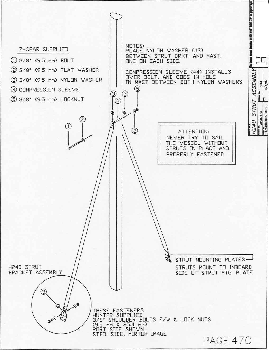 Hunter 240 Owners Manual