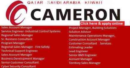 cameron oil gas jobs