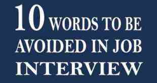 words to be avided in job interview