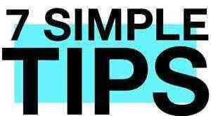 simple tips