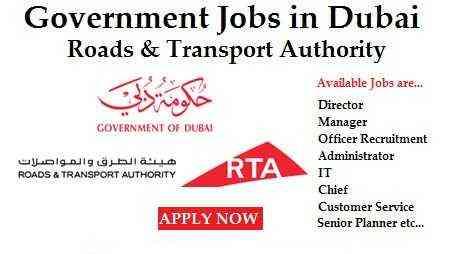 Latest Jobs in Roads & Transport Authority Dubai New