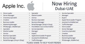 Apple Jobs In Dubai