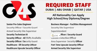 Latest Jobs Hiring At G4S In Qatar-KSA-USA-UAE Act Now -Gulf