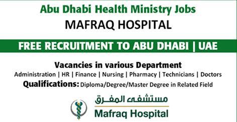 Latest Jobs Hiring At MAFRAQ Hospital In UAE -Gulf Jobs Hiring