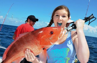 Funding to establish a cost-shared electronic reporting program for federally permitted charter-for-hire vessels in the Gulf of Mexico would allow them more days to fish for red snapper. Photo: Facebook/Fish Orange Beach