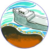 Health Icon-Boat with Oil