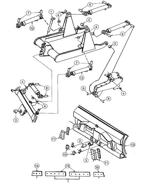Ford Case John Deere King Kutter Parts Backhoe Dozer Tractor