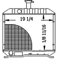 15621-72063 Kubota Radiator