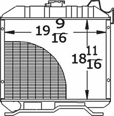 17301-72060 Kubota Radiator