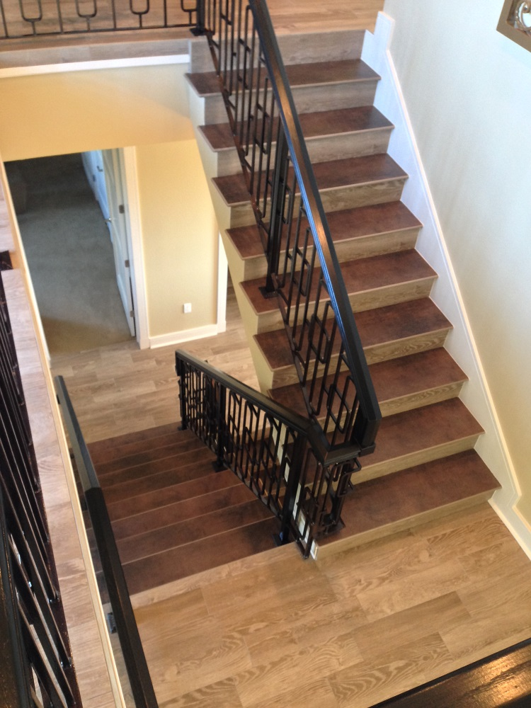 Gulf Tiles Porcelain Wood Tile Stairs  Flooring Project