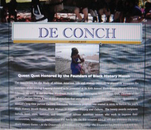 De Conch-January 2013 Edition focuses on the annual events in the Gullah/Geechee Nation and the authentic Gullah/Geechee organizations of the Gullah/Geechee Nation.