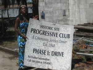 Queen Quet at the Progressive Club on Johns Island, SC