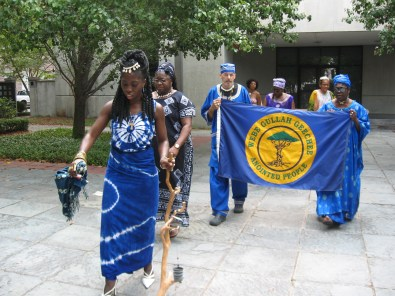 Queen Quet Leads Libation at Gibbes Museum in Charleston, SC in the Gullah/Geechee Nation